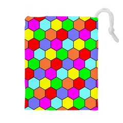 Hexagonal Tiling Drawstring Pouches (Extra Large)