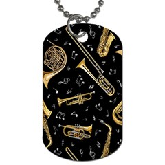 Instrument Saxophone Jazz Dog Tag (Two Sides)