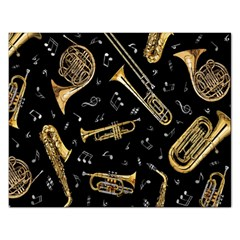 Instrument Saxophone Jazz Rectangular Jigsaw Puzzl