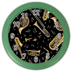 Instrument Saxophone Jazz Color Wall Clocks