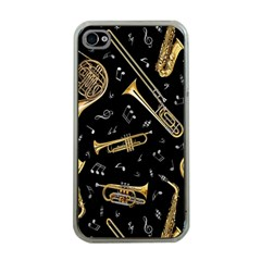 Instrument Saxophone Jazz Apple iPhone 4 Case (Clear)