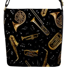 Instrument Saxophone Jazz Flap Messenger Bag (S)