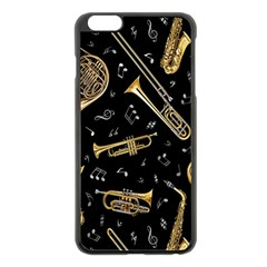 Instrument Saxophone Jazz Apple iPhone 6 Plus/6S Plus Black Enamel Case