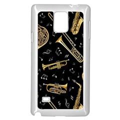 Instrument Saxophone Jazz Samsung Galaxy Note 4 Case (White)