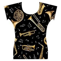 Instrument Saxophone Jazz Women s Cap Sleeve Top