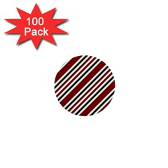 Line Christmas Stripes 1  Mini Buttons (100 pack)