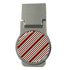 Line Christmas Stripes Money Clips (Round)