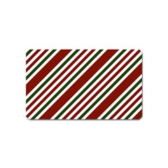 Line Christmas Stripes Magnet (Name Card)