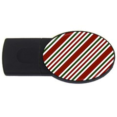 Line Christmas Stripes USB Flash Drive Oval (1 GB)