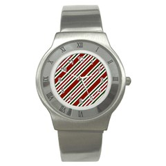 Line Christmas Stripes Stainless Steel Watch