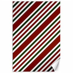 Line Christmas Stripes Canvas 20  x 30