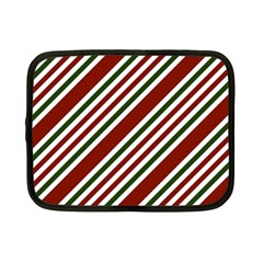 Line Christmas Stripes Netbook Case (Small)