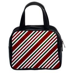 Line Christmas Stripes Classic Handbags (2 Sides)