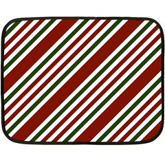 Line Christmas Stripes Double Sided Fleece Blanket (Mini)