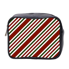 Line Christmas Stripes Mini Toiletries Bag 2-Side