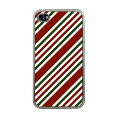 Line Christmas Stripes Apple iPhone 4 Case (Clear)