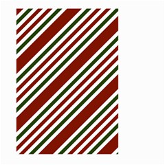 Line Christmas Stripes Large Garden Flag (Two Sides)