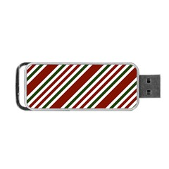 Line Christmas Stripes Portable USB Flash (Two Sides)
