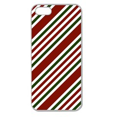Line Christmas Stripes Apple Seamless iPhone 5 Case (Clear)