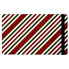 Line Christmas Stripes Apple iPad 2 Flip Case