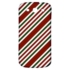 Line Christmas Stripes Samsung Galaxy S3 S III Classic Hardshell Back Case