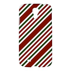Line Christmas Stripes Samsung Galaxy S4 I9500/I9505 Hardshell Case