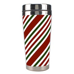 Line Christmas Stripes Stainless Steel Travel Tumblers