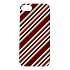 Line Christmas Stripes Apple iPhone 5S/ SE Hardshell Case