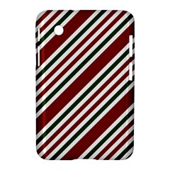 Line Christmas Stripes Samsung Galaxy Tab 2 (7 ) P3100 Hardshell Case
