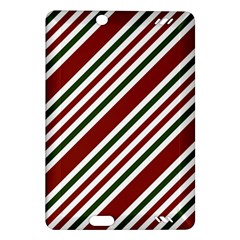Line Christmas Stripes Amazon Kindle Fire HD (2013) Hardshell Case