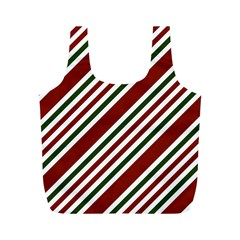 Line Christmas Stripes Full Print Recycle Bags (M)