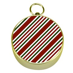 Line Christmas Stripes Gold Compasses