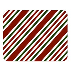 Line Christmas Stripes Double Sided Flano Blanket (Large)