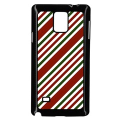 Line Christmas Stripes Samsung Galaxy Note 4 Case (Black)