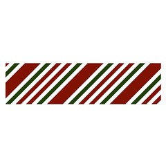 Line Christmas Stripes Satin Scarf (Oblong)