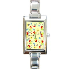 Lion Animals Sun Rectangle Italian Charm Watch