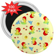 Lion Animals Sun 3  Magnets (100 pack)