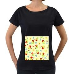 Lion Animals Sun Women s Loose-Fit T-Shirt (Black)