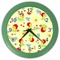 Lion Animals Sun Color Wall Clocks