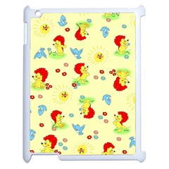 Lion Animals Sun Apple iPad 2 Case (White)
