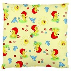 Lion Animals Sun Large Cushion Case (One Side)