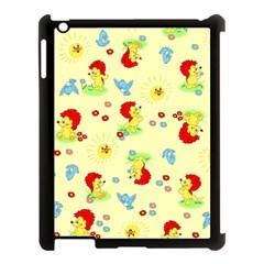 Lion Animals Sun Apple iPad 3/4 Case (Black)