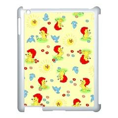 Lion Animals Sun Apple iPad 3/4 Case (White)