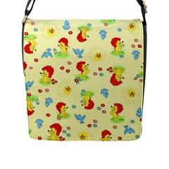 Lion Animals Sun Flap Messenger Bag (L)