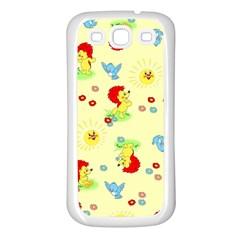 Lion Animals Sun Samsung Galaxy S3 Back Case (White)