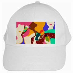 Girl Colorful Copy White Cap