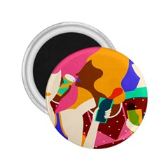 Girl Colorful Copy 2.25  Magnets