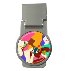 Girl Colorful Copy Money Clips (Round)