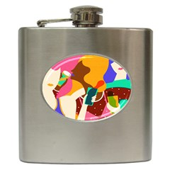 Girl Colorful Copy Hip Flask (6 oz)