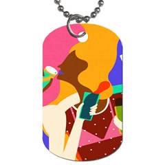 Girl Colorful Copy Dog Tag (Two Sides)